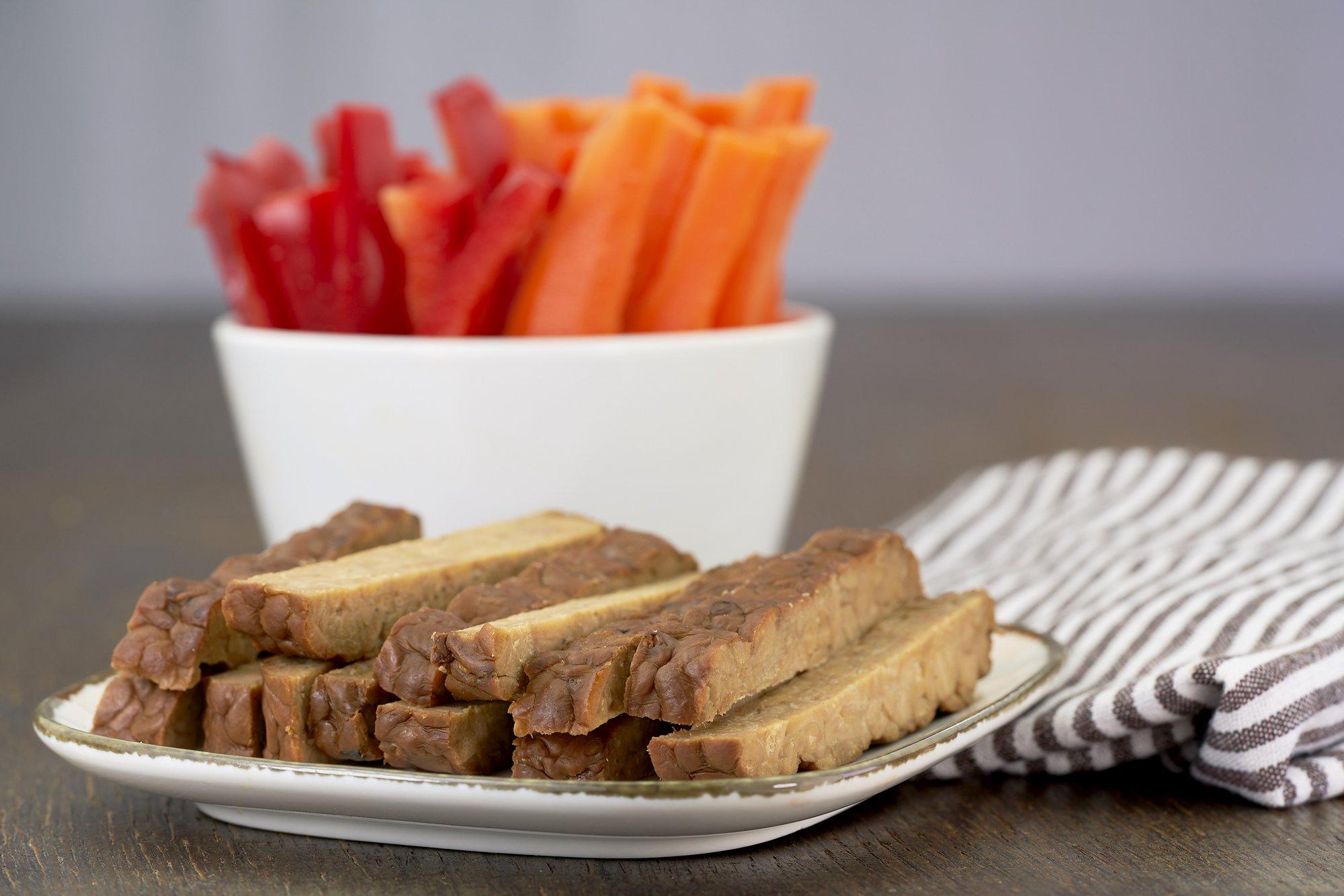 Svět zdraví recepty Zeleninové tyčinky s tempehem